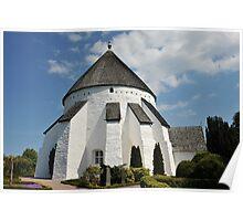 Østerlars round church Poster