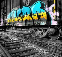 Railcar Graffiti by Jigsawman
