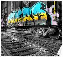 Railcar Graffiti Poster