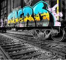 Railcar Graffiti Photographic Print
