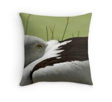 Sleeping Pelican Throw Pillow