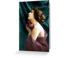 vintage lady 5 Greeting Card
