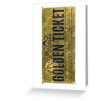 Golden Bar Willy Wonka  Greeting Card