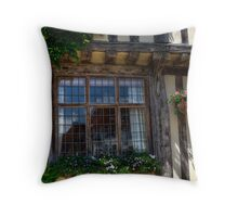 Lavenham window Throw Pillow