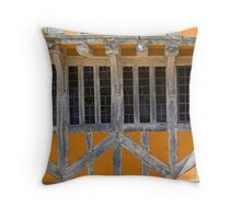 Timber-framed window, Lavenham Throw Pillow