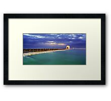 Dawn at Merewether Baths Framed Print