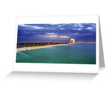 Dawn at Merewether Baths Greeting Card