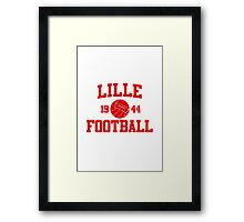 Lille Football Athletic College Style 2 Gray Framed Print