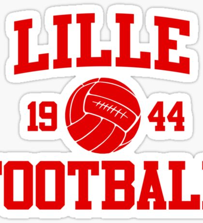 Lille Football Athletic College Style 2 Gray Sticker