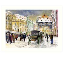 Prague Old Town Square Winter Art Print