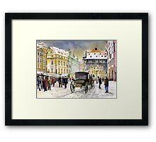 Prague Old Town Square Winter Framed Print
