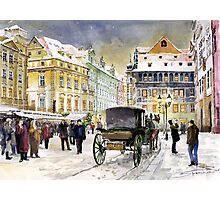 Prague Old Town Square Winter Photographic Print