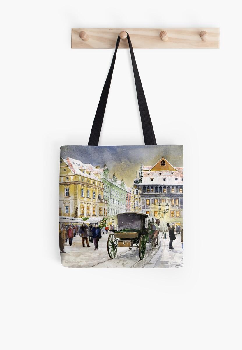 Prague Old Town Square Winter by Yuriy Shevchuk
