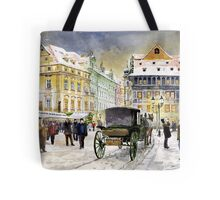 Prague Old Town Square Winter Tote Bag