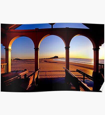 Nobbys Sunrise (From Nobbys Beach) Poster