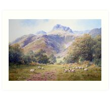 Afternoon view at Langdale, Cumbria, England Art Print