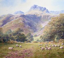 Afternoon view at Langdale, Cumbria, England by JoeHush