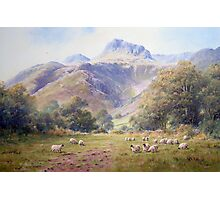 Afternoon view at Langdale, Cumbria, England Photographic Print