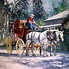 Cobb & Co Coach with Heavy Horses by Tanya Zaadstra