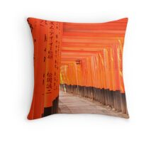 Fushimi Shrine Throw Pillow