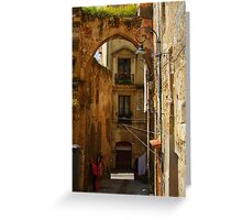 Arch & Stair Series - Washing day Greeting Card