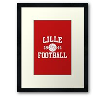 Lille Football Athletic College Style 2 Color Framed Print