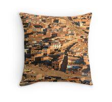 Potosi, Bolivia Throw Pillow