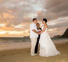 May Weddings - Sunrise at Waimanalo Beach by Angela Czmiel