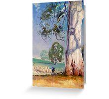 Gum Tree Lane - Australian Kelpie Series Greeting Card