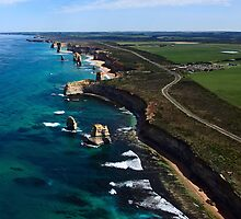 From above 12 Apostles Victoria by Manfred Belau