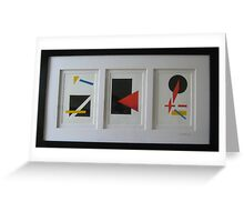 Suprematism (Triptych) Greeting Card