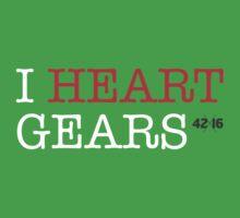 i heart gears One Piece - Short Sleeve