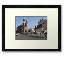 Market Square, Krakow Framed Print