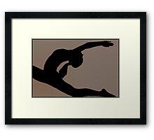 Photography Yoga salutation Framed Print