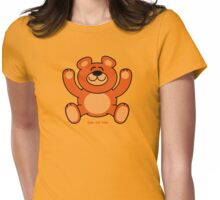 Christmas Teddy Bear Womens Fitted T-Shirt