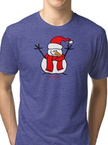 Christmas Snow Man Tri-blend T-Shirt