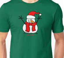 Christmas Snow Man Unisex T-Shirt
