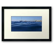 Looking over the water Framed Print