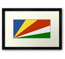 Flag of the Seychelles Framed Print