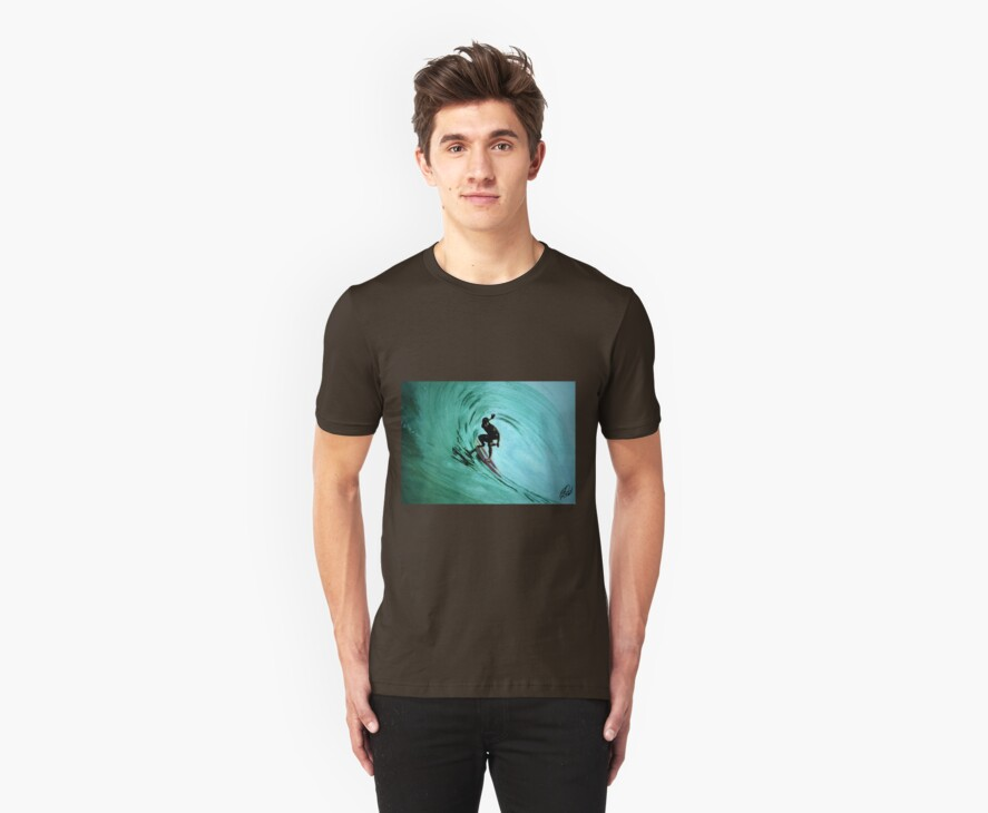 surfing t-shirt by ralphyboy