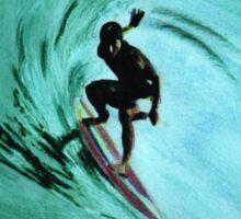 surfing t-shirt Sticker
