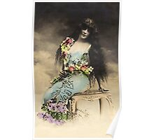 Vintage *Flower Belle in the Clouds* Poster