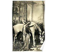Vintage *Goddess and her Stallion* Poster