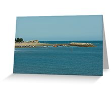 BOATS IN WATER Greeting Card