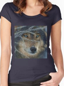 Wolf Eyes Women's Fitted Scoop T-Shirt