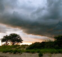 Evening Storm over Accabonac Creek by raneangel