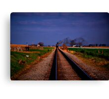 Watching The Train Come-Strasburg Railroad Canvas Print