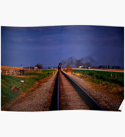 Watching The Train Come-Strasburg Railroad Poster