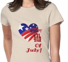 Great American 4th Of July Womens Fitted T-Shirt
