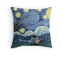Starry Wishes for Vincent Throw Pillow
